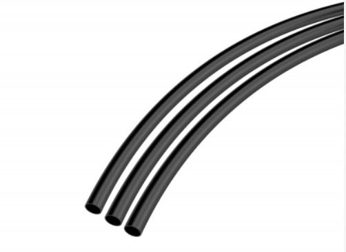 Tubo de Nylon 8mm Preto - mangueira de ar
