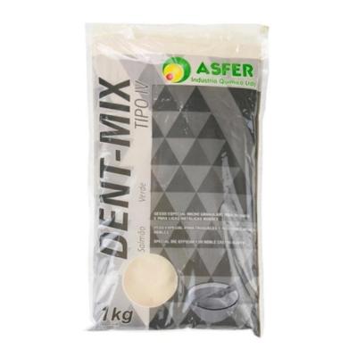 Gesso Dent Mix Tipo IV Salmão 1KG - Asfer