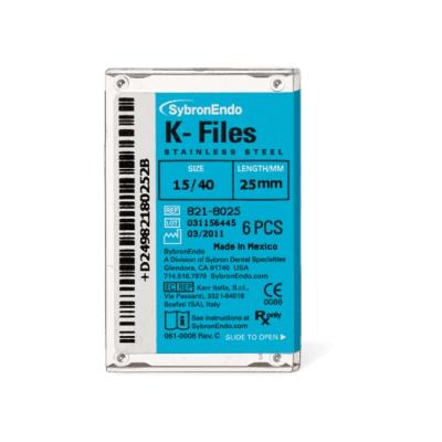 Lima K-Files 25mm 15/40 c/6 - Kerr