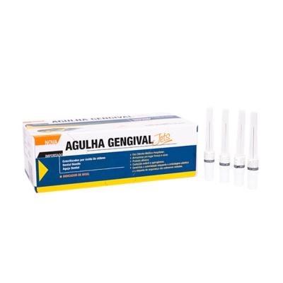 Agulha Gengival Jets 30G Curta c/ 100un - Injecta