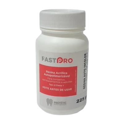 Resina Acrílica Autopolimerizável Incolor 225g - Protetic