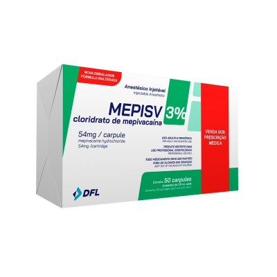 Anestésico Mepivacaína Mepisv sem Vaso 3% - DFL