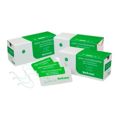 Fio de sutura nylon 4-0 agulha 3/8 - Best Care