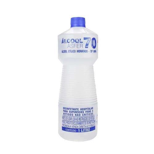 Álcool 70% Líquido 1L - Asfer