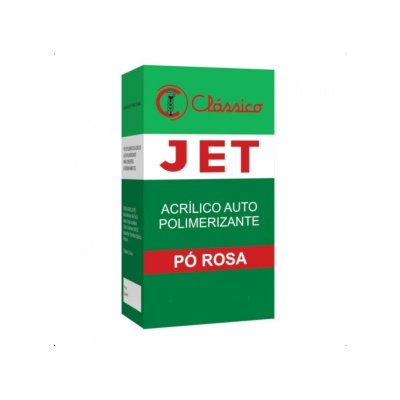 Resina Acrílica Auto JET Pó Rosa 220g - Clássico